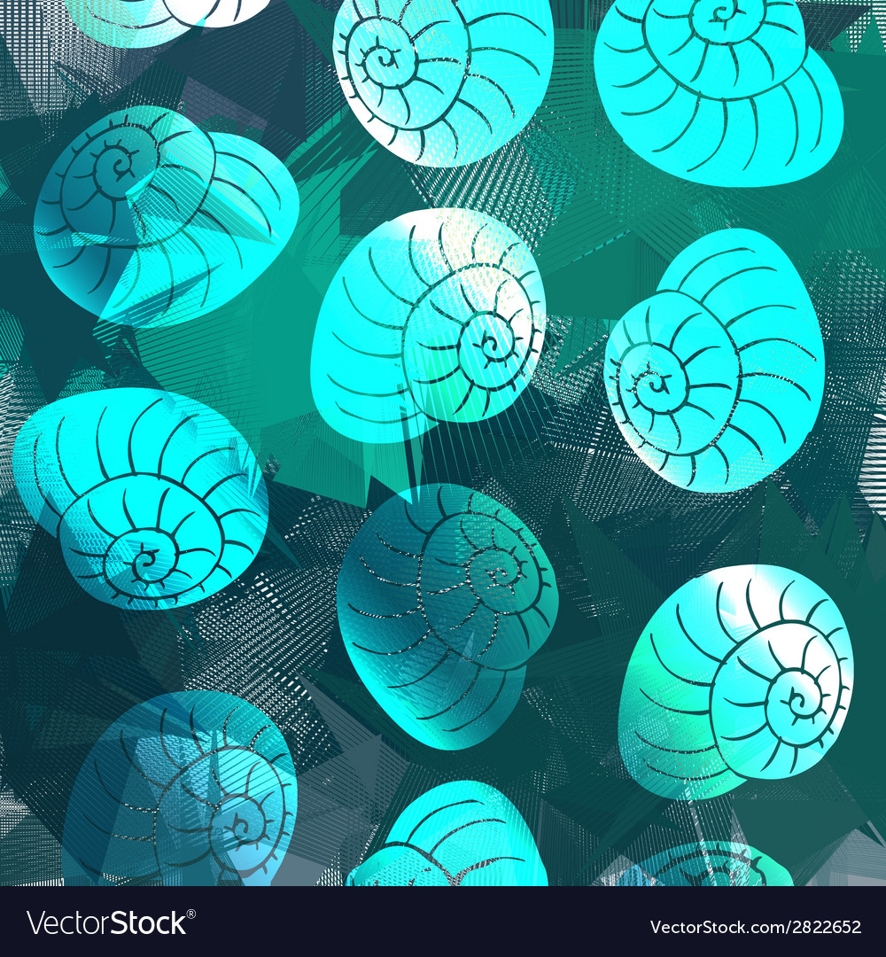 Shell pattern vector | Price: 1 Credit (USD $1)