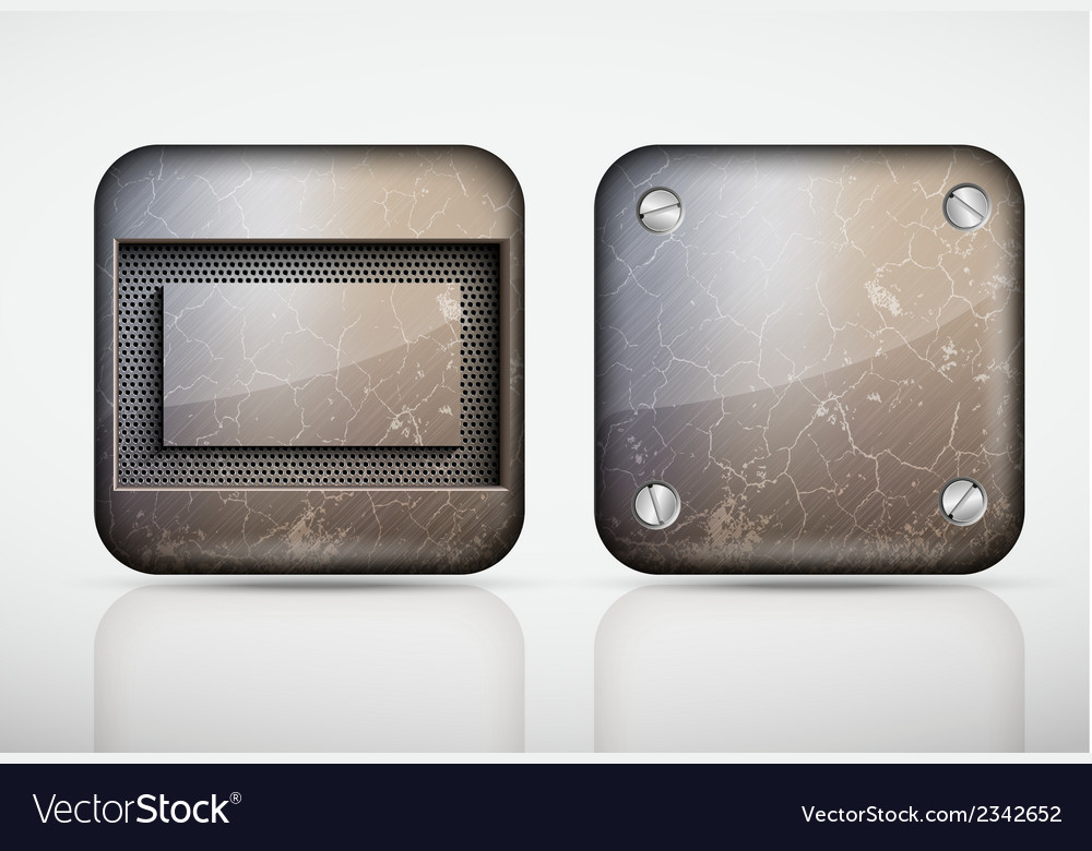 Steel metal app icons vector | Price: 1 Credit (USD $1)