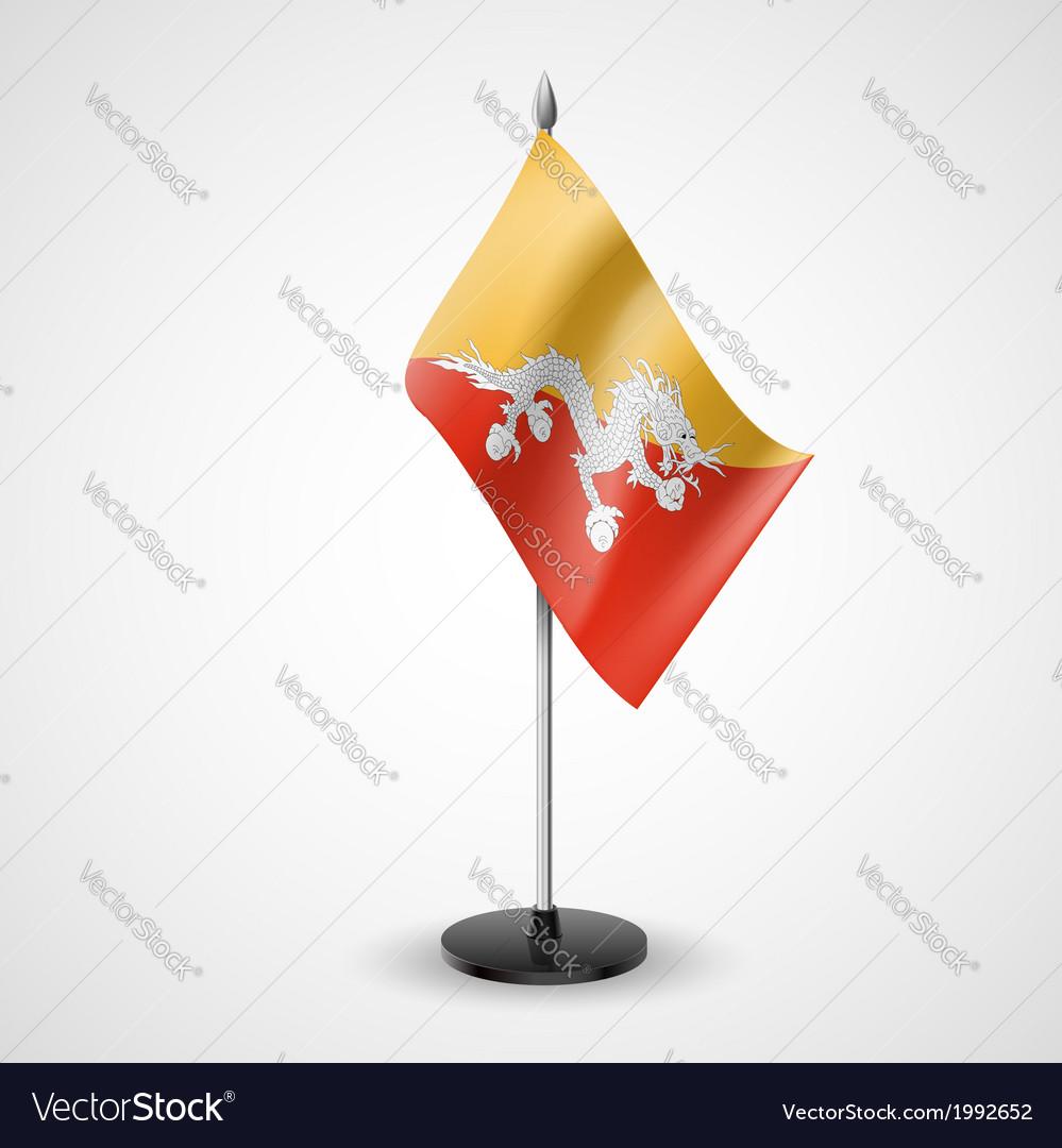 Table flag of bhutan vector | Price: 1 Credit (USD $1)