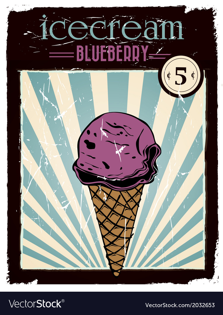 Blueberry ice cream vector | Price: 1 Credit (USD $1)
