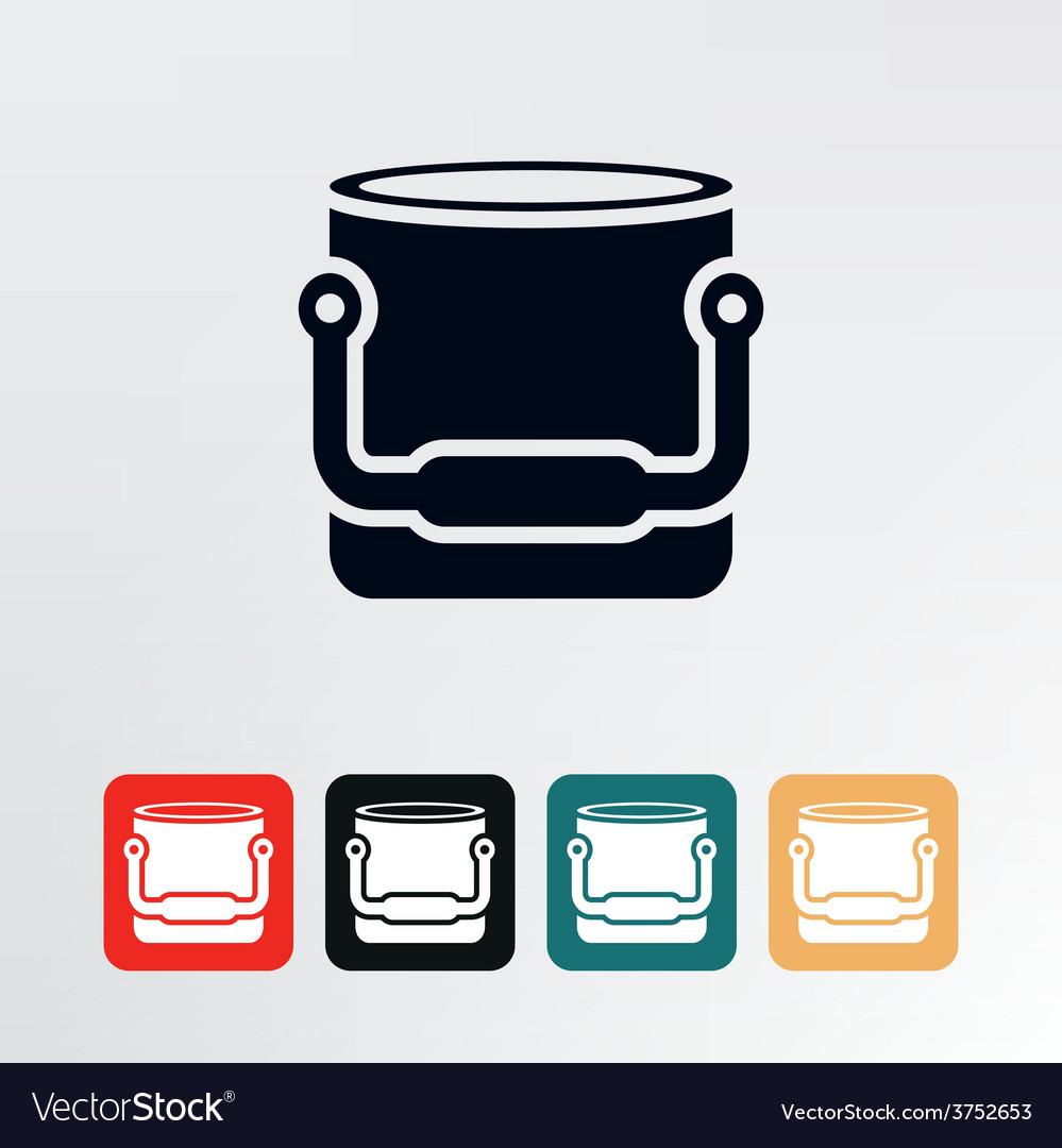 Bucket icon vector | Price: 1 Credit (USD $1)
