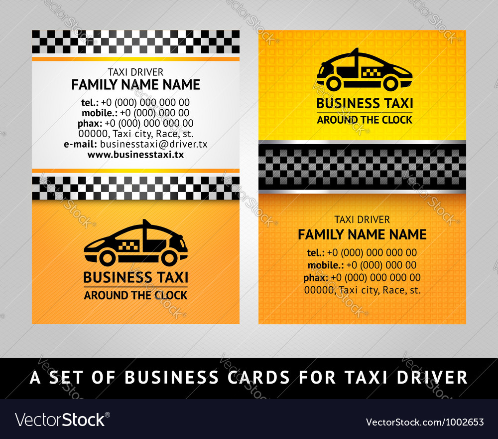 Business card - cab vector | Price: 1 Credit (USD $1)