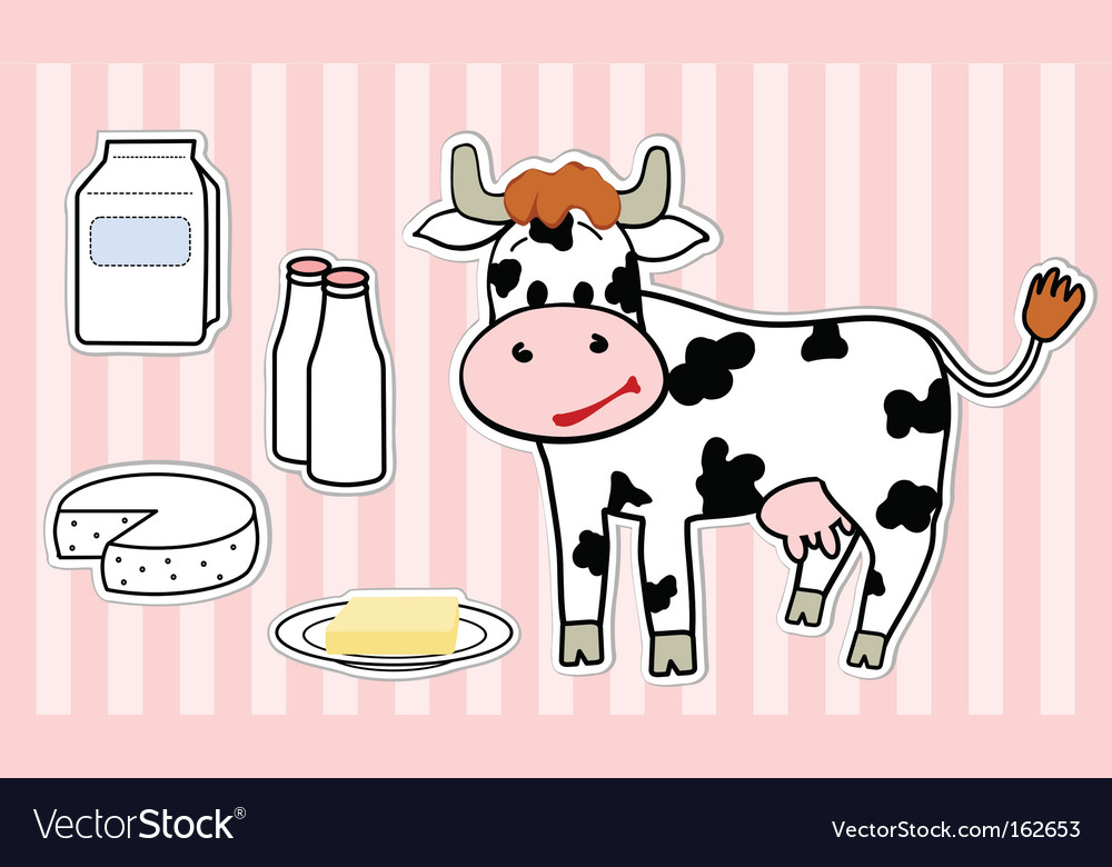 Cow vector | Price: 1 Credit (USD $1)