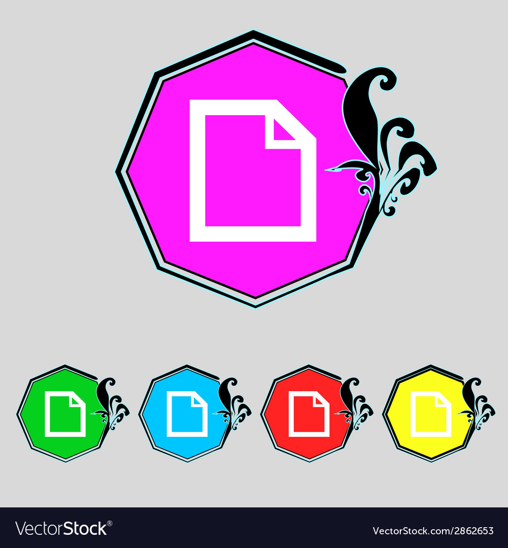 Edit document sign icon content button set vector | Price: 1 Credit (USD $1)