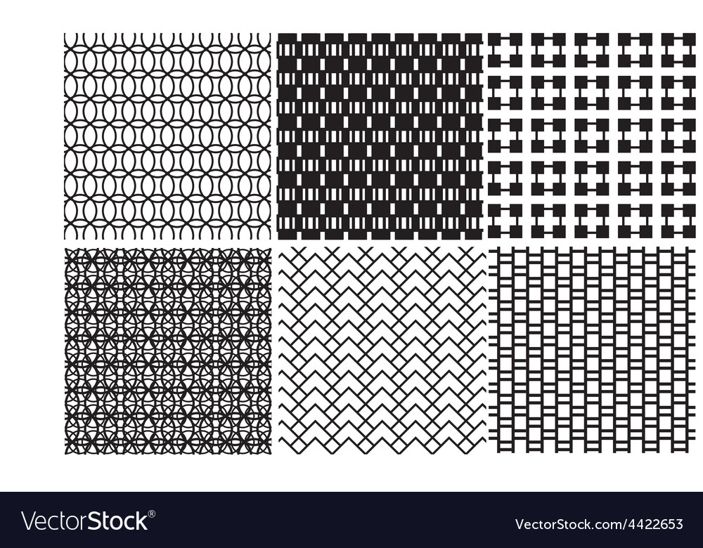 Geometric black and white textures vector | Price: 1 Credit (USD $1)