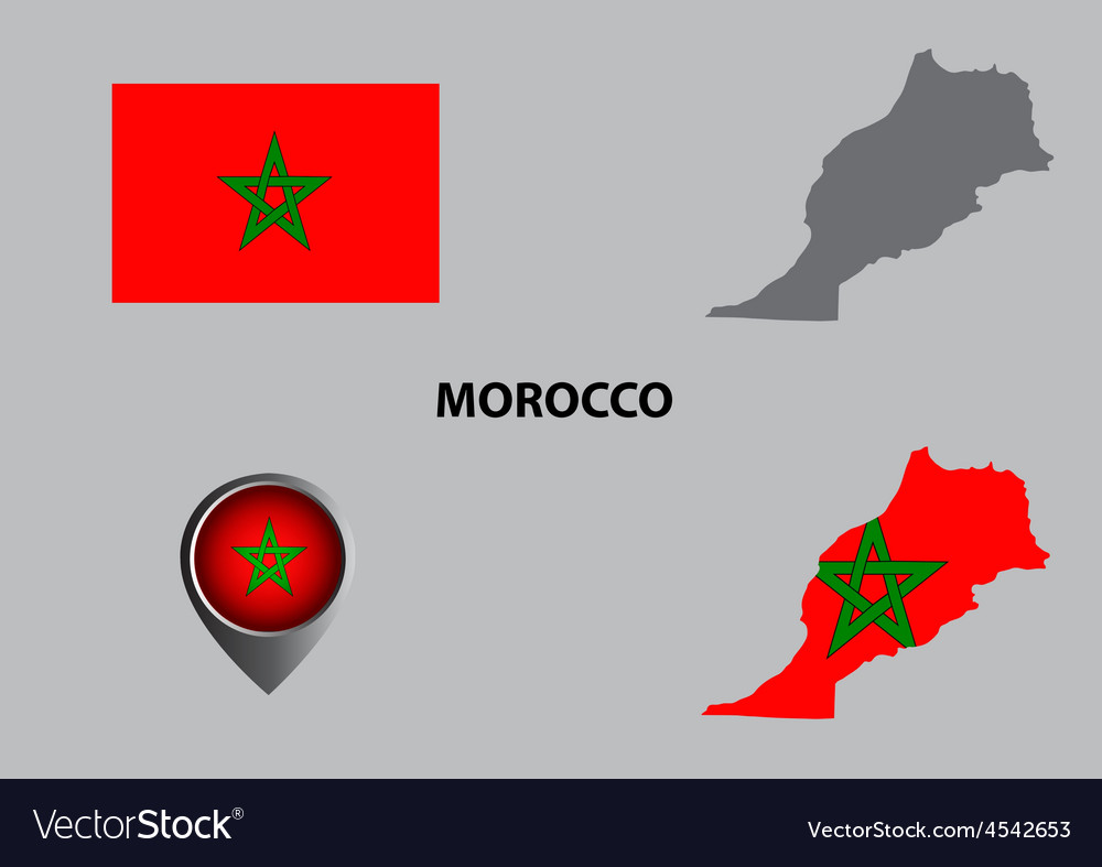 Map of morocco and symbol vector | Price: 1 Credit (USD $1)
