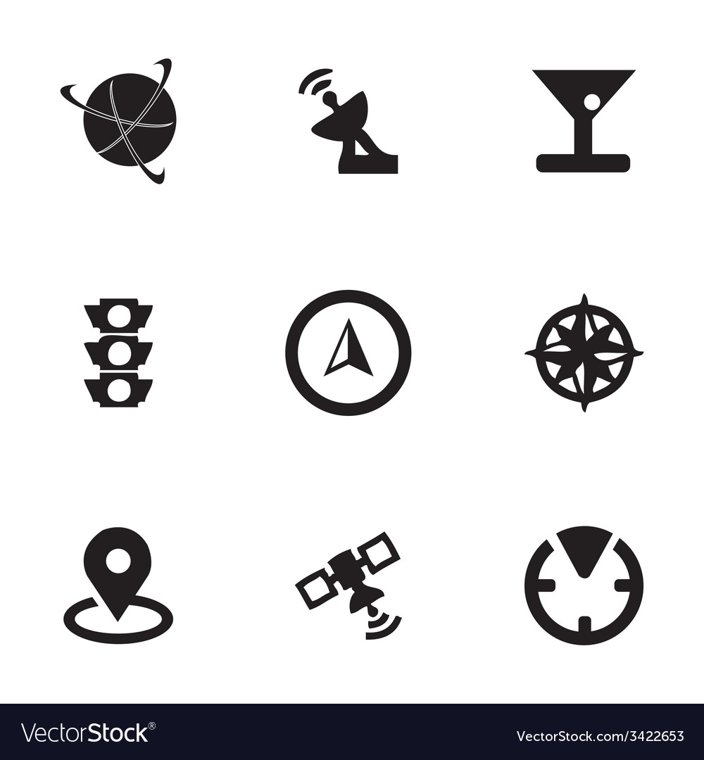Navigation icons set vector | Price: 1 Credit (USD $1)
