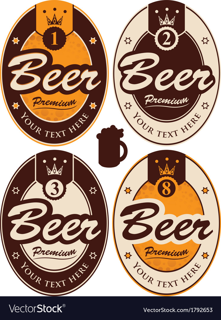 Oval labels vector | Price: 1 Credit (USD $1)
