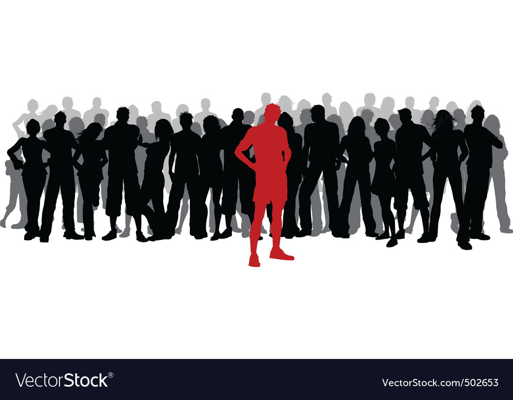 Stand out from the crowd vector | Price: 1 Credit (USD $1)