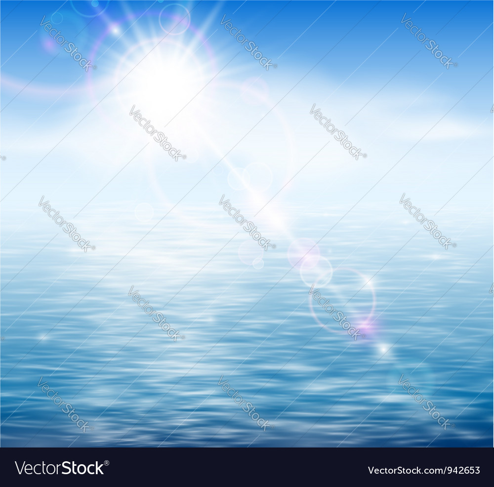 Sunshine by the sea vector | Price: 1 Credit (USD $1)