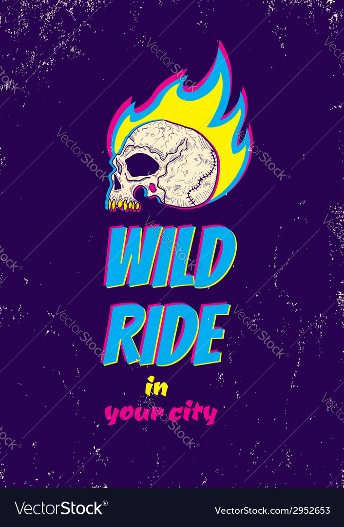 Wild ride cmyk vector | Price: 1 Credit (USD $1)