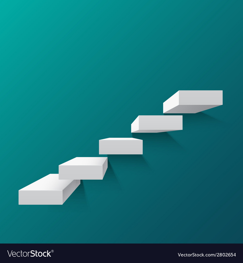 Abstract background with white stairs vector | Price: 1 Credit (USD $1)