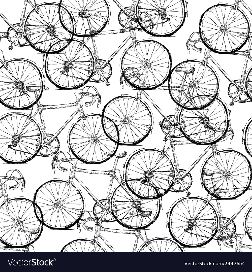 Bicycles seamless pattern simple vector | Price: 1 Credit (USD $1)