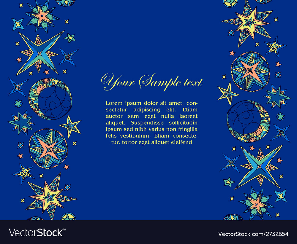 Blue starry fantastic background vector | Price: 1 Credit (USD $1)