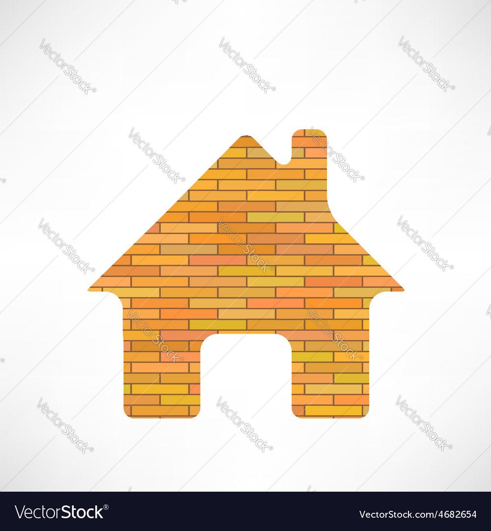 Brick home icon vector | Price: 1 Credit (USD $1)
