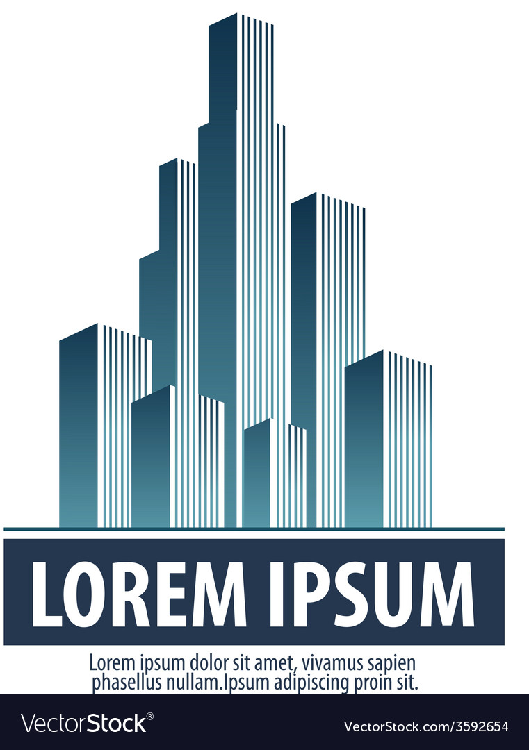 City skyscrapers on a white background logo icon vector   Price: 1 Credit (USD $1)