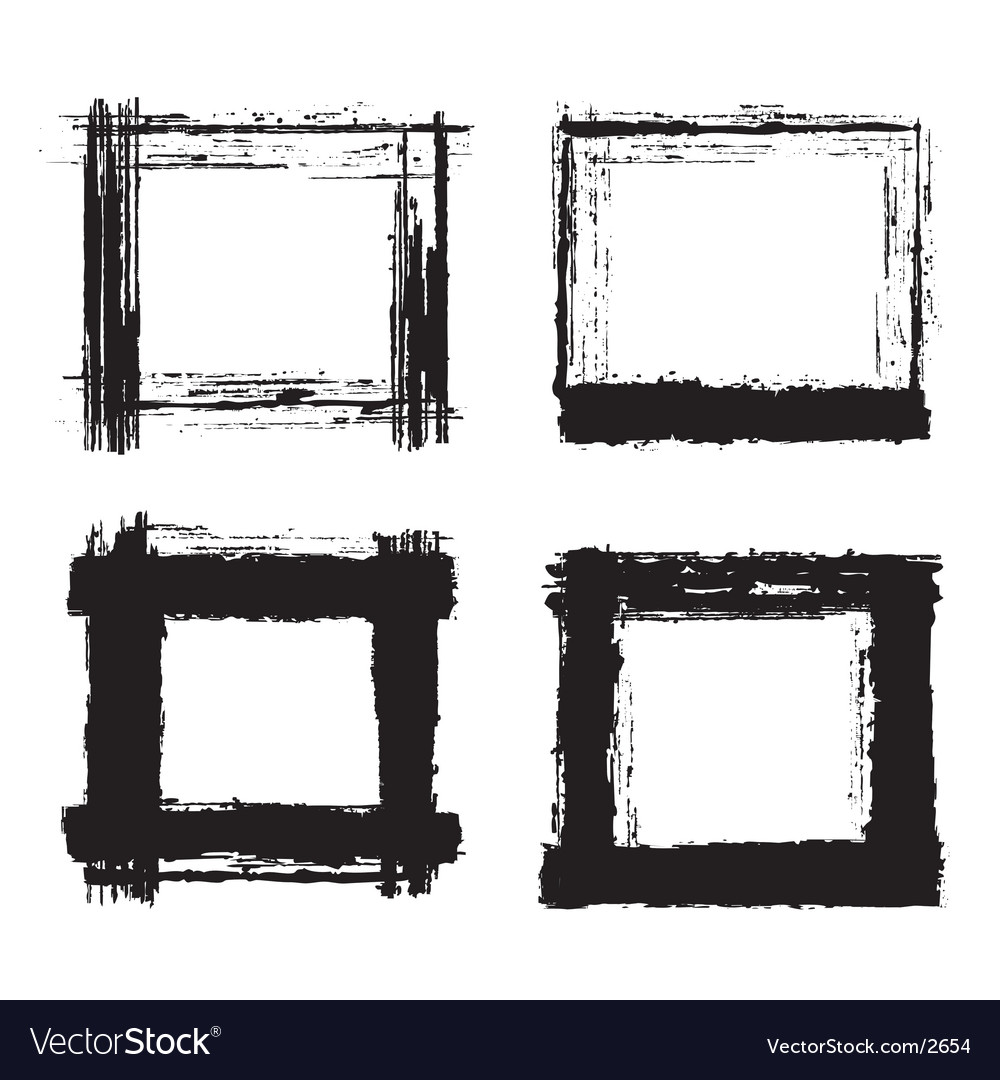Grunge frames vector | Price: 1 Credit (USD $1)