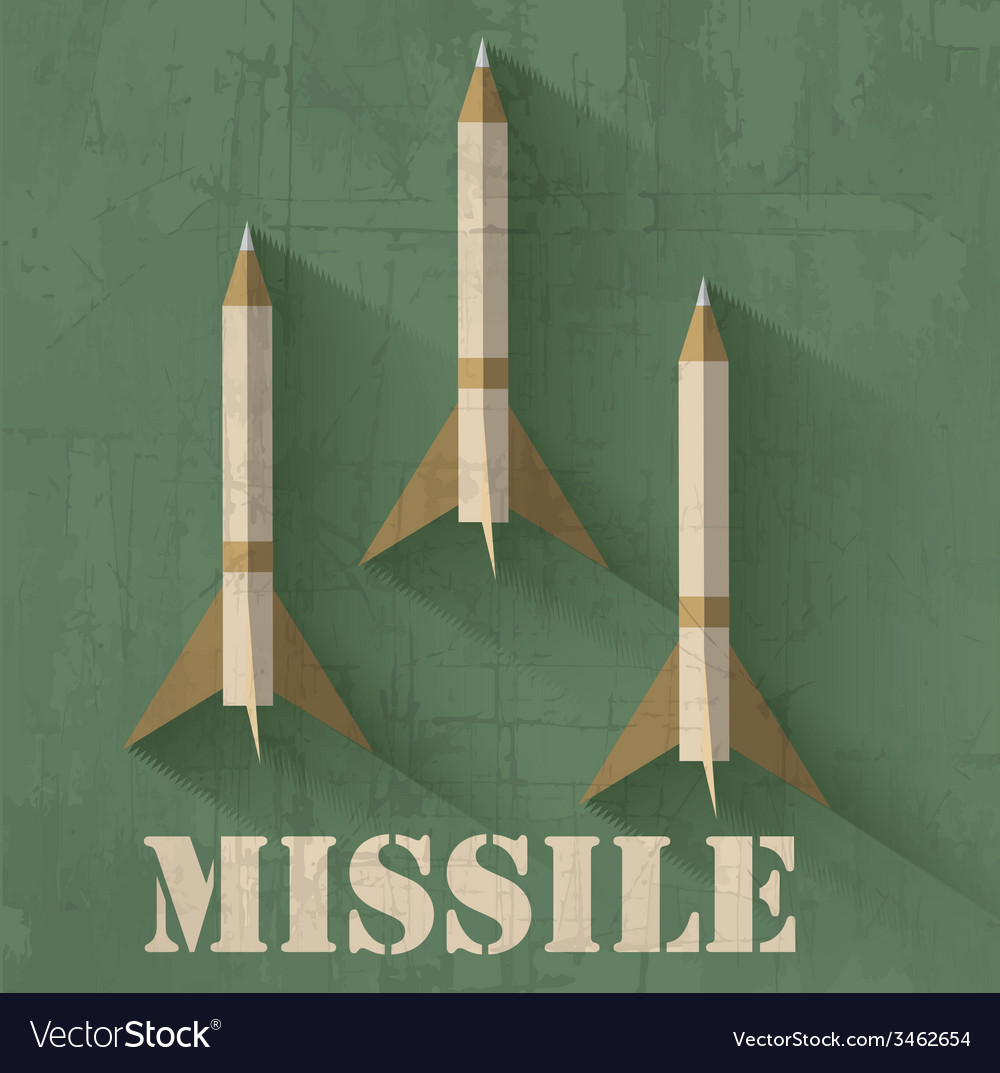 Grunge missile icon background concept desi vector | Price: 1 Credit (USD $1)