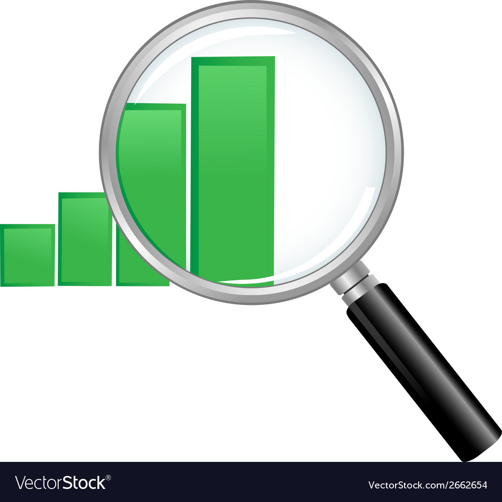 Magnified chart vector | Price: 1 Credit (USD $1)