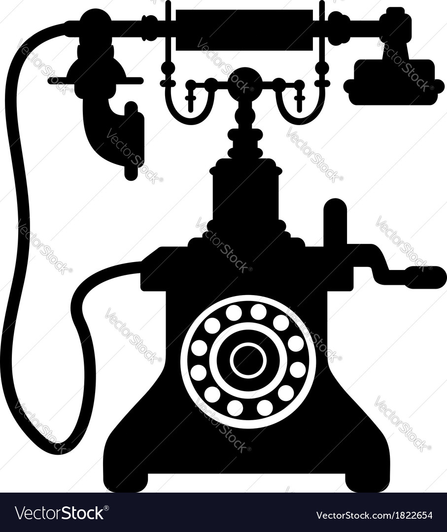 Old vintage telephone vector | Price: 1 Credit (USD $1)