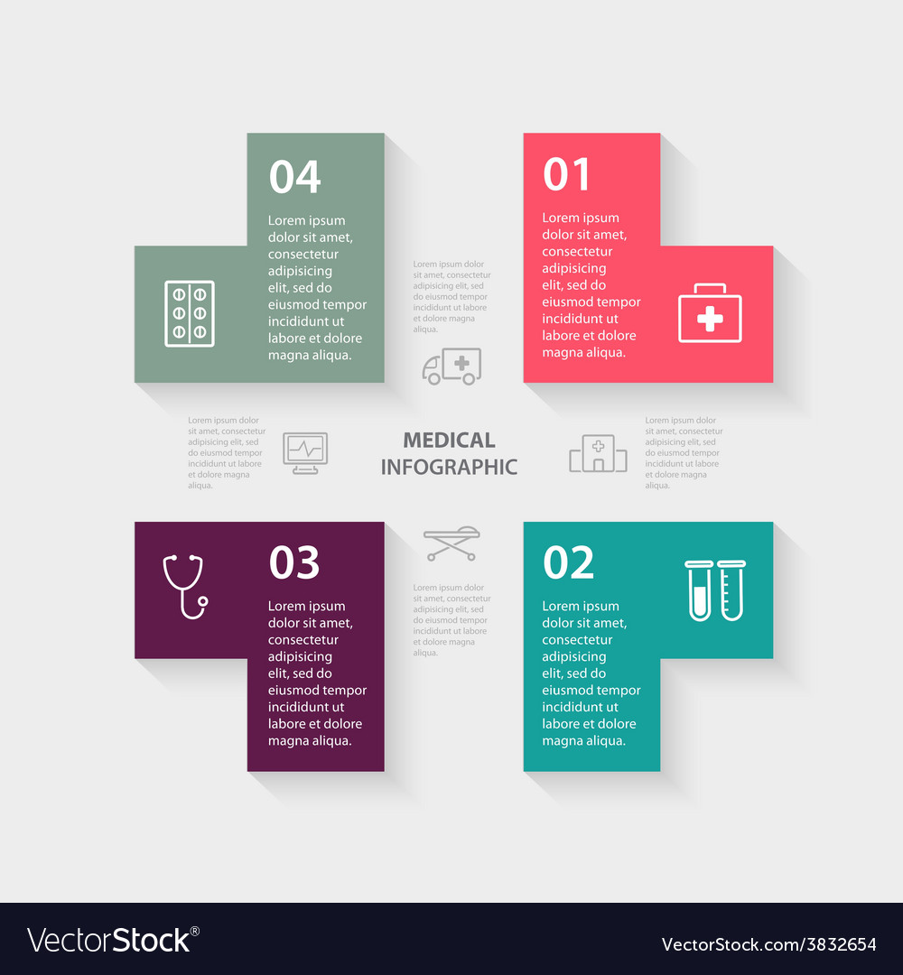 Plus sign infographic template for diagram vector | Price: 1 Credit (USD $1)