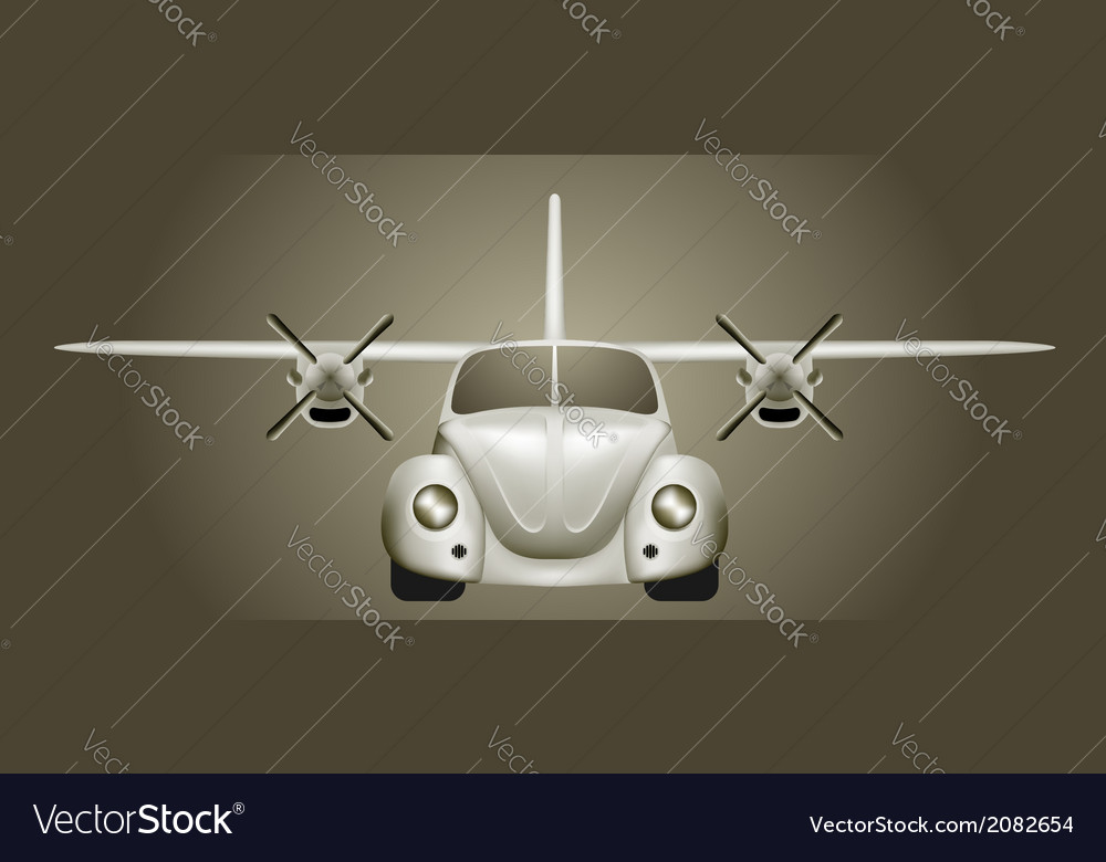 Retro flying car vector | Price: 1 Credit (USD $1)