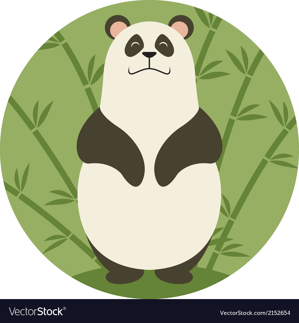 Smiling panda vector | Price: 1 Credit (USD $1)