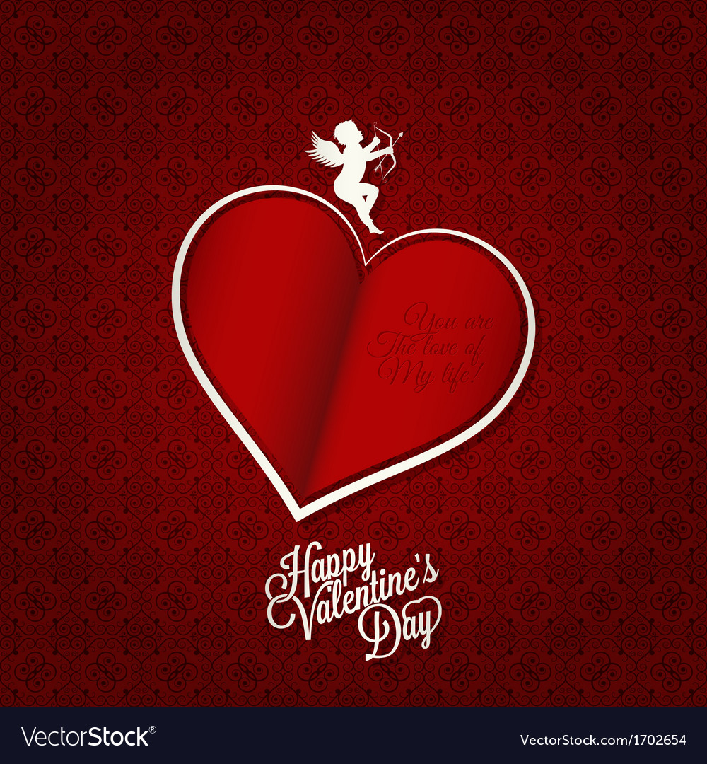 Valentines day card happy holiday background vector | Price: 1 Credit (USD $1)
