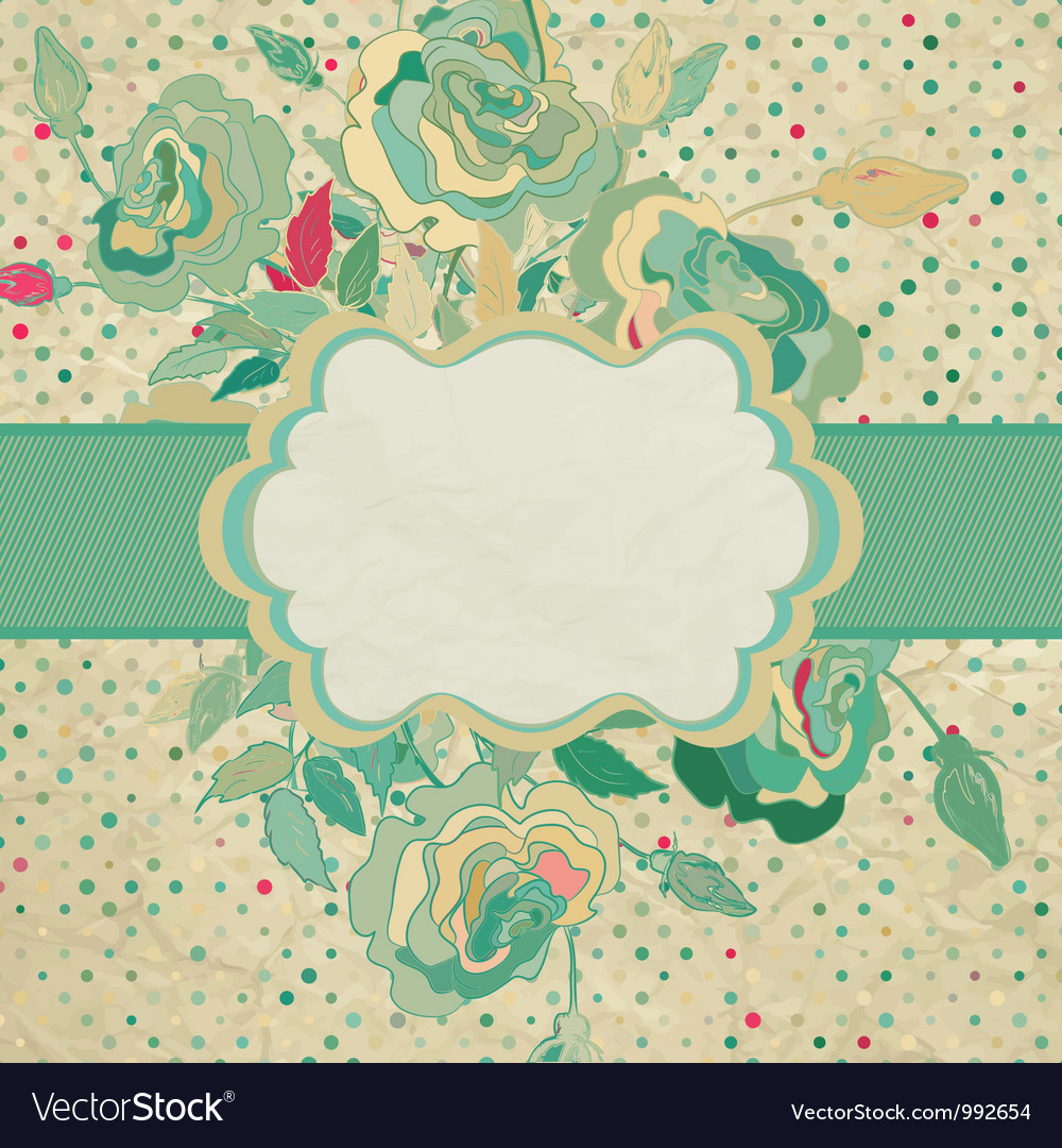 Vintage flower drawing and also includes eps 8 vector | Price: 1 Credit (USD $1)