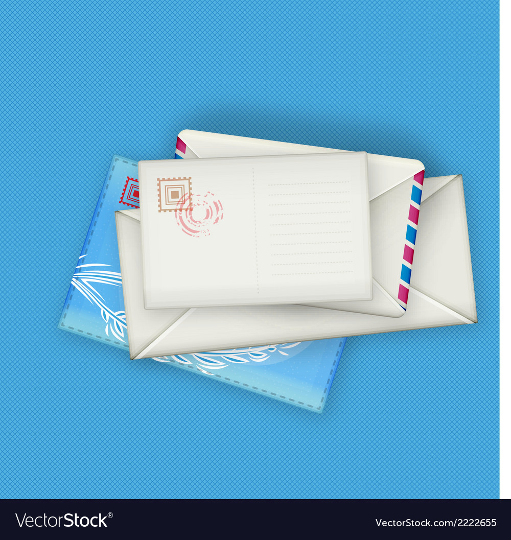 Envelopes and card vector | Price: 1 Credit (USD $1)