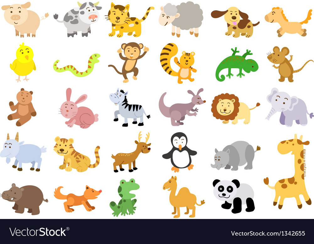 Extra large set of animals vector | Price: 3 Credit (USD $3)