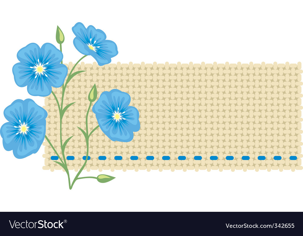 Flax flower vector | Price: 1 Credit (USD $1)