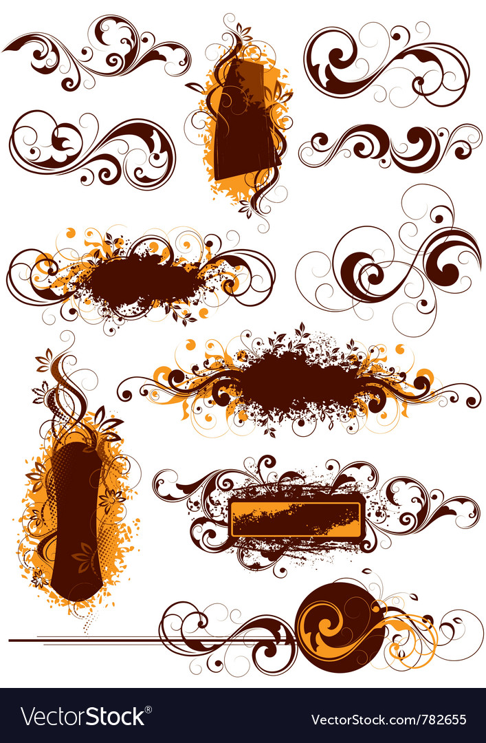 Flourish designs vector | Price: 1 Credit (USD $1)