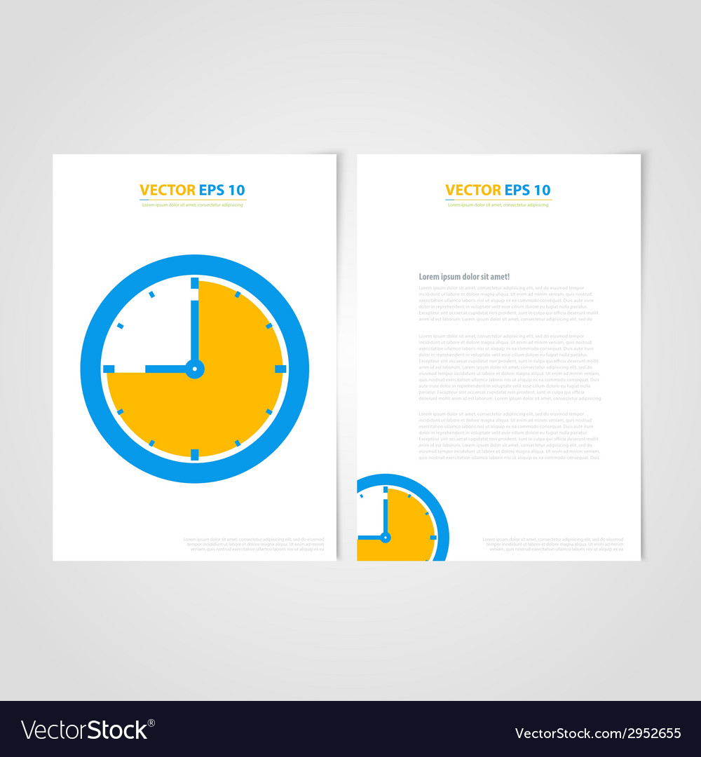 Flyer template back and front design medical icons vector | Price: 1 Credit (USD $1)