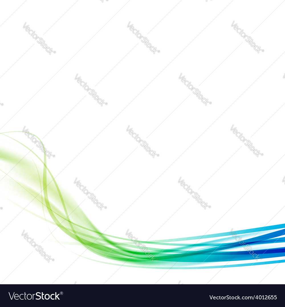 Green blue transparent modern speed swoosh line vector | Price: 1 Credit (USD $1)