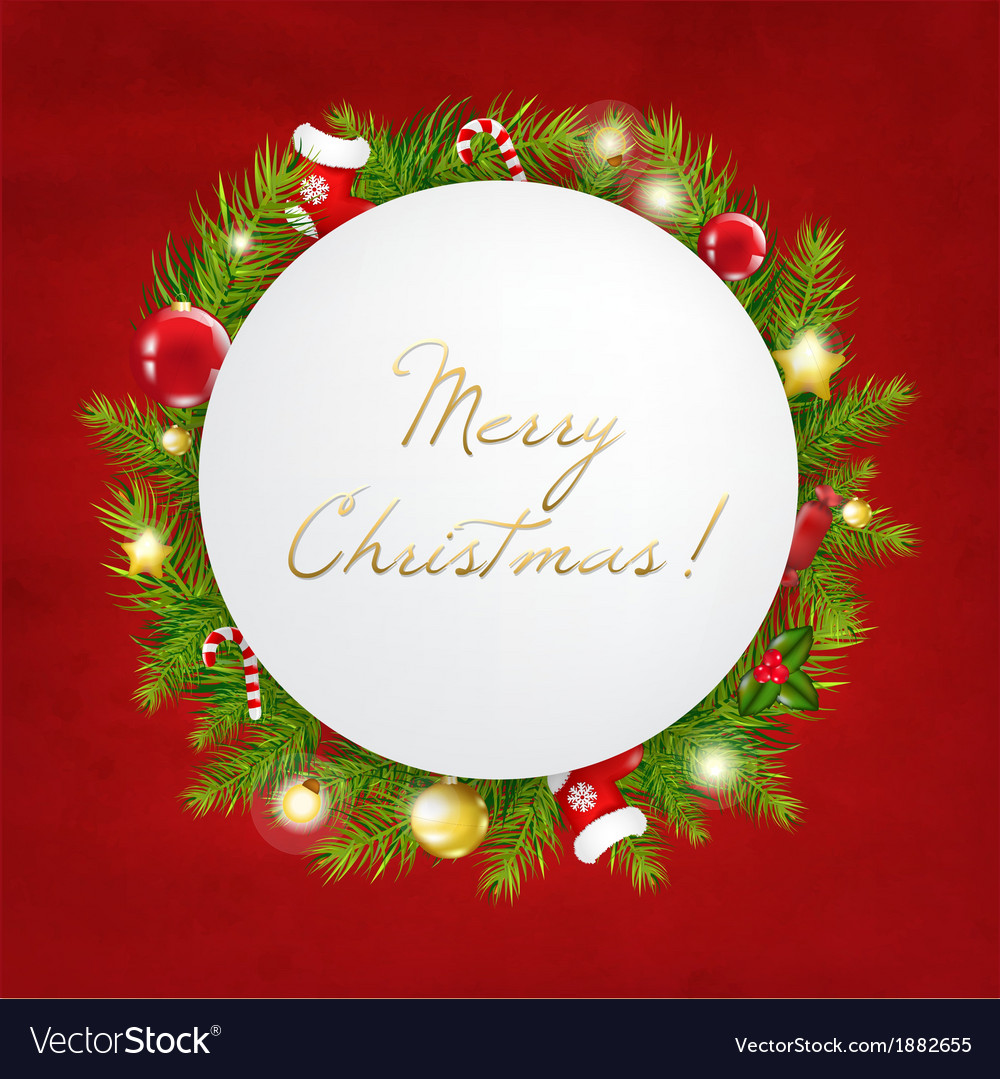 Merry christmas festive card vector | Price: 1 Credit (USD $1)