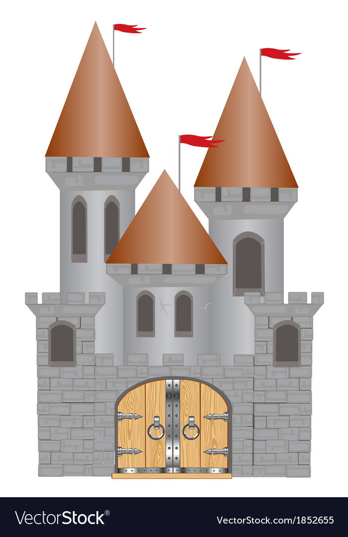 Old-time fortress vector | Price: 1 Credit (USD $1)