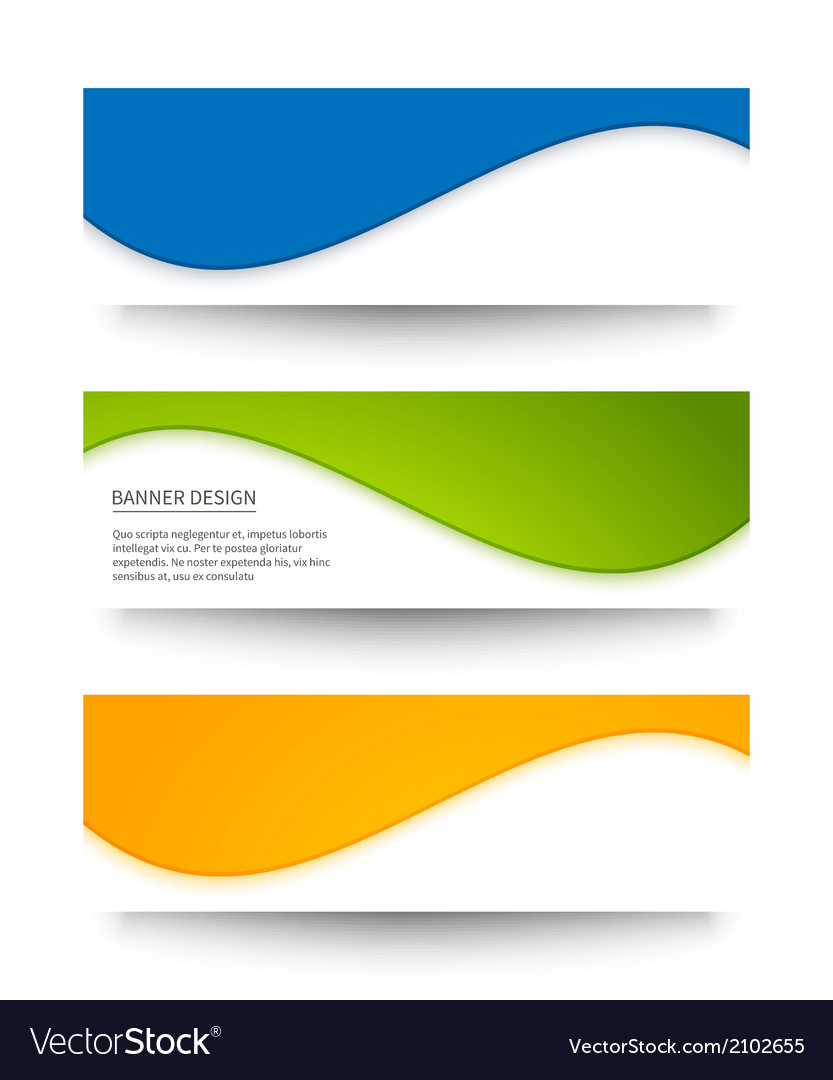Set of banners for your design vector | Price: 1 Credit (USD $1)