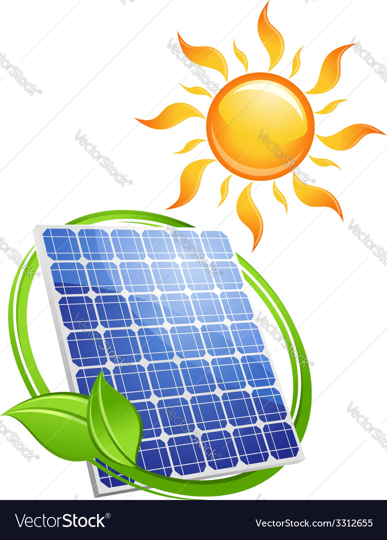 Sustainable solar energy concept vector | Price: 1 Credit (USD $1)