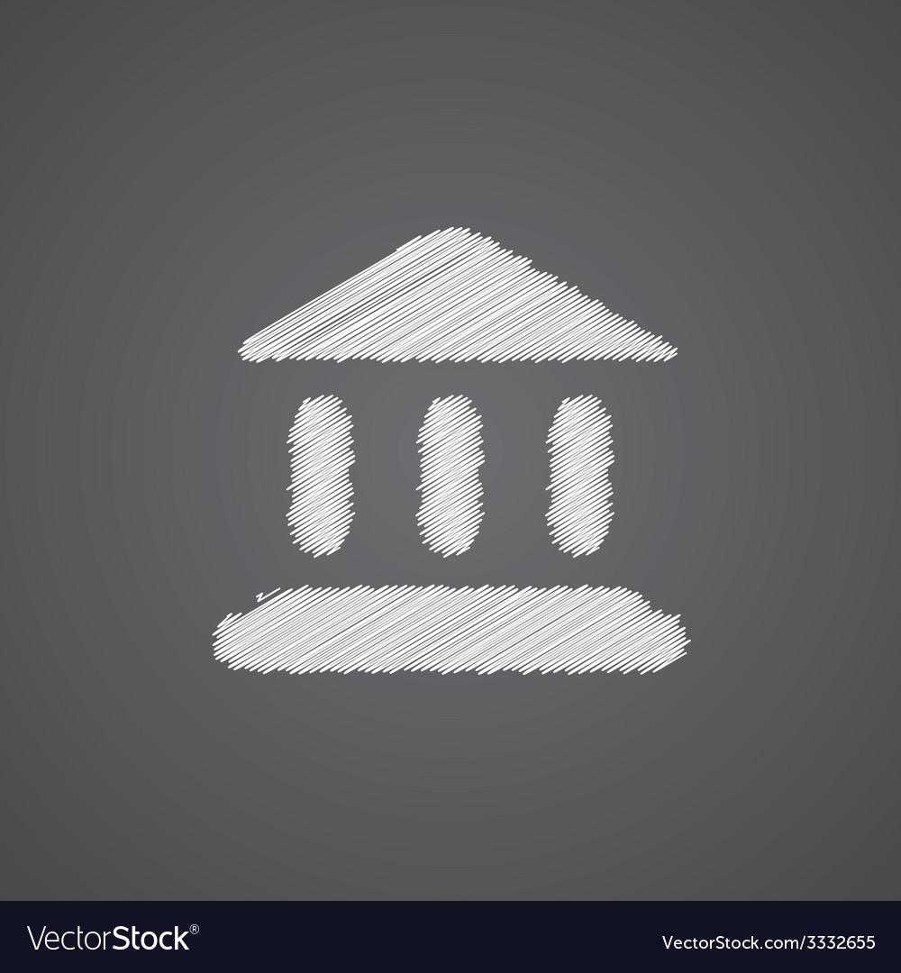 Tribunal sketch logo doodle icon vector | Price: 1 Credit (USD $1)