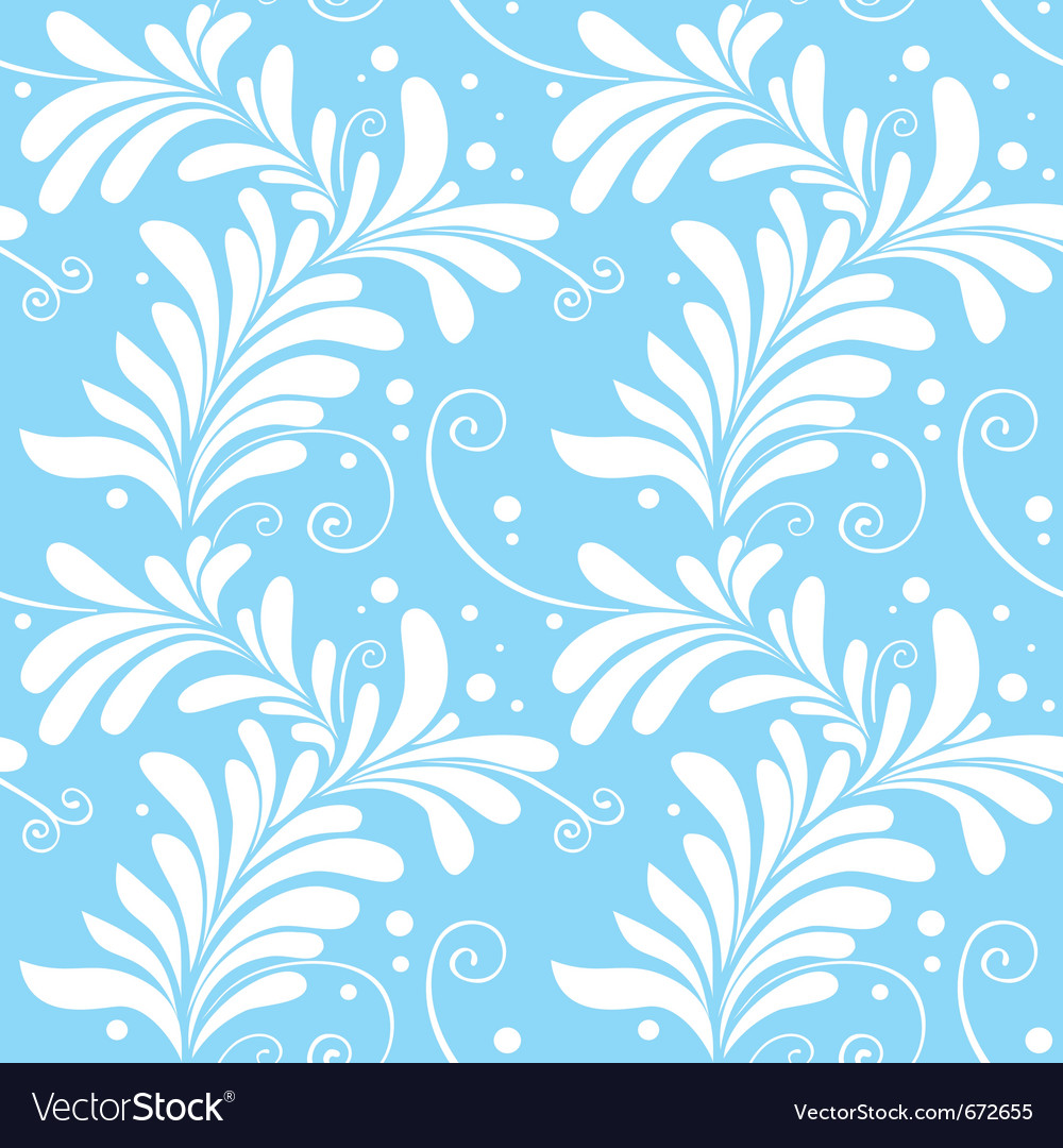 Winter ornamental floral seamless pattern light bl vector | Price: 1 Credit (USD $1)