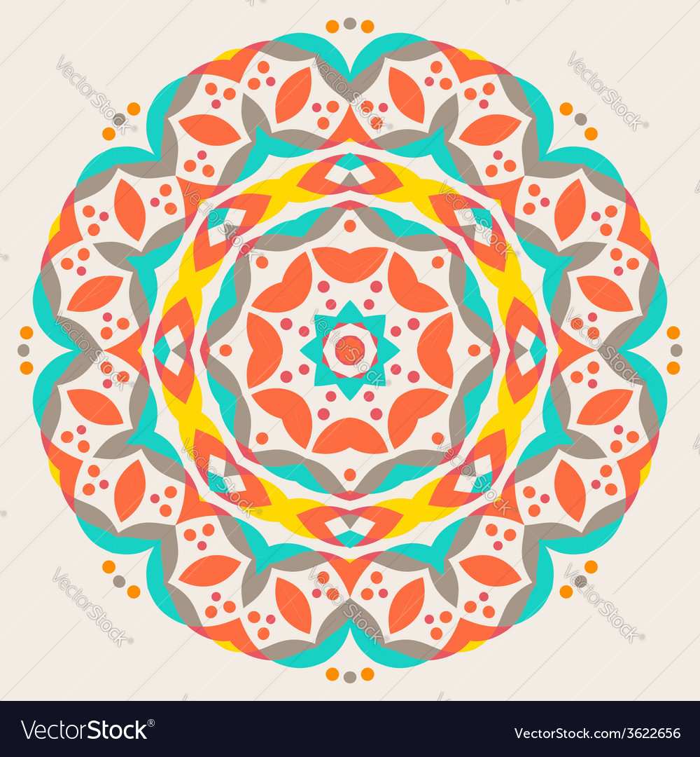 Abstract geometric pattern - colorful floor tile vector | Price: 1 Credit (USD $1)