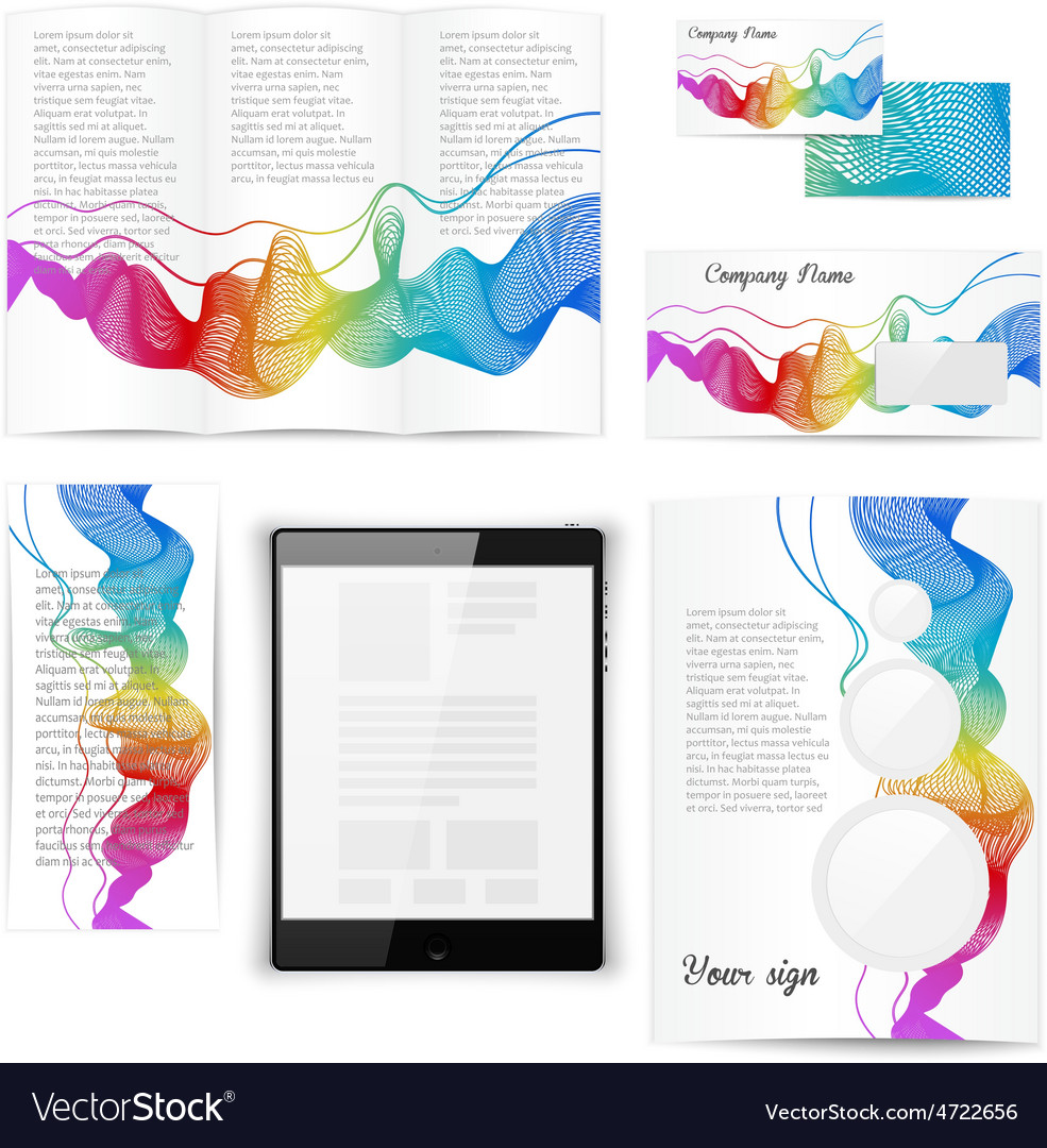 Classic white stationery template documentation vector | Price: 1 Credit (USD $1)