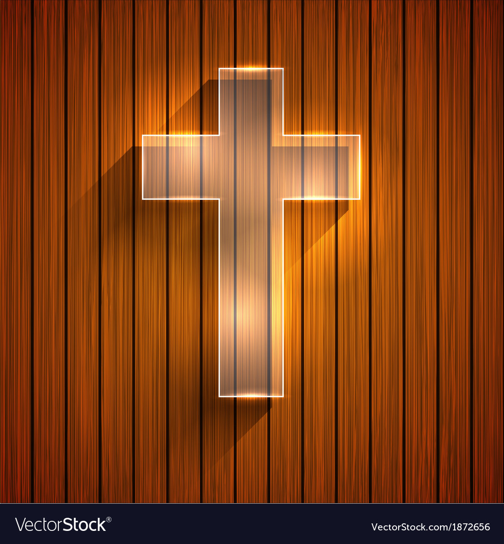 Cross on wooden background eps 10 vector | Price: 1 Credit (USD $1)