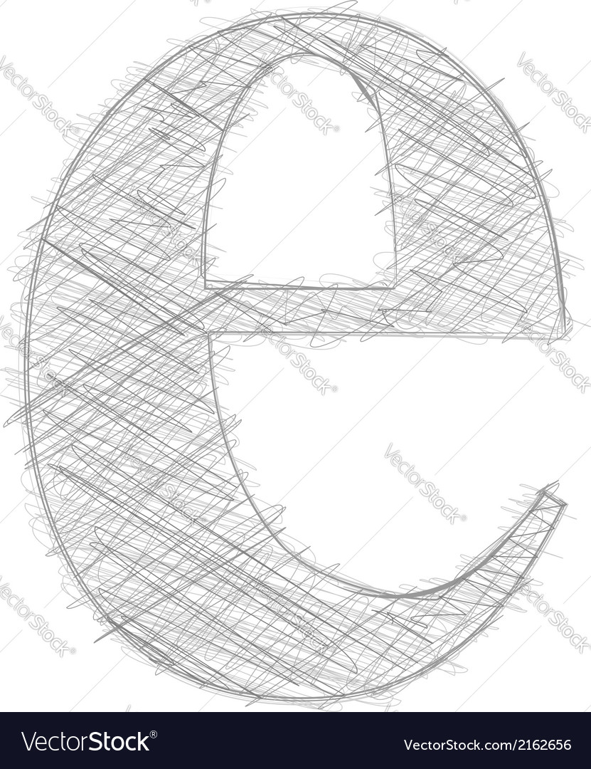 Freehand typography letter e vector | Price: 1 Credit (USD $1)