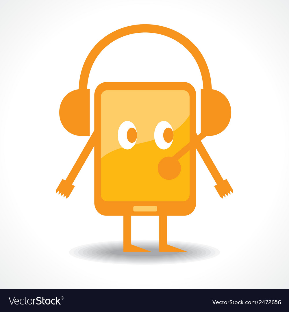 Hearing music with tablet stock vector | Price: 1 Credit (USD $1)