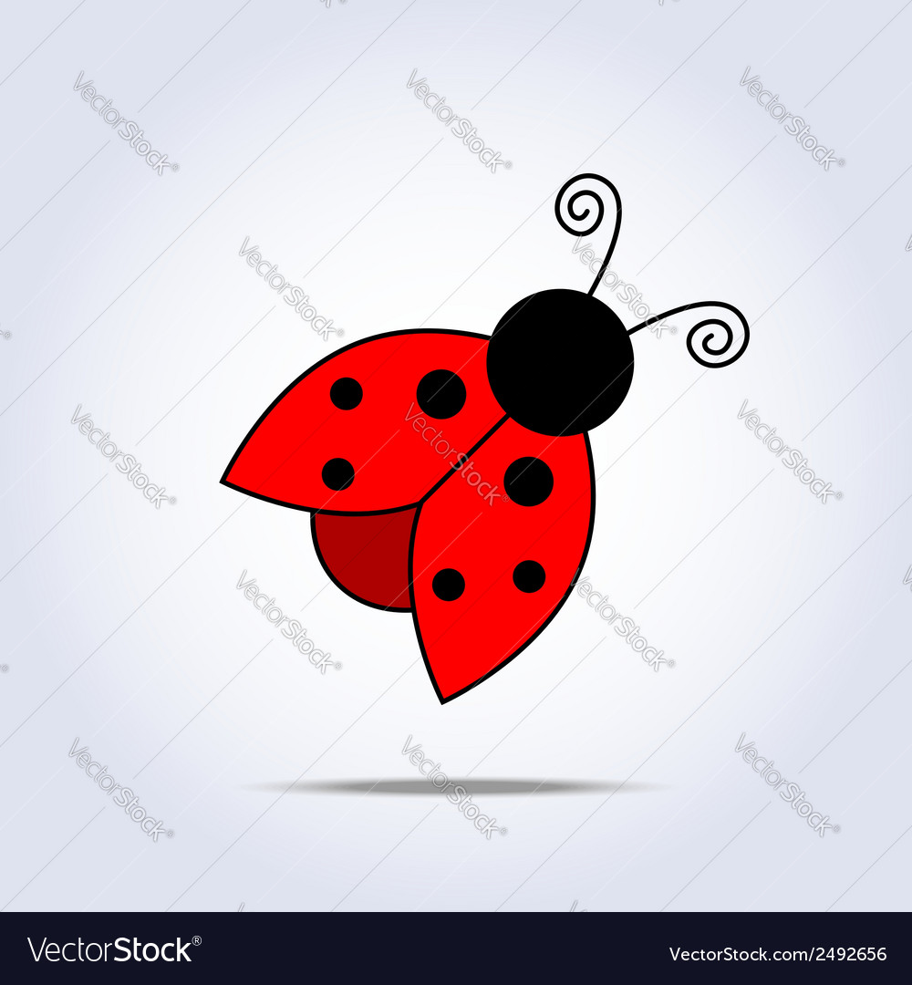 Ladybug icon vector | Price: 1 Credit (USD $1)