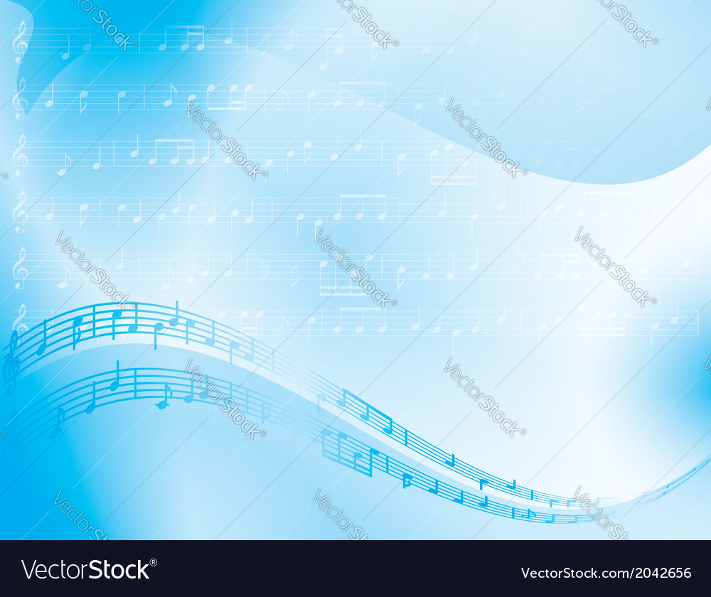 Light blue abstract background - music notes vector | Price: 1 Credit (USD $1)
