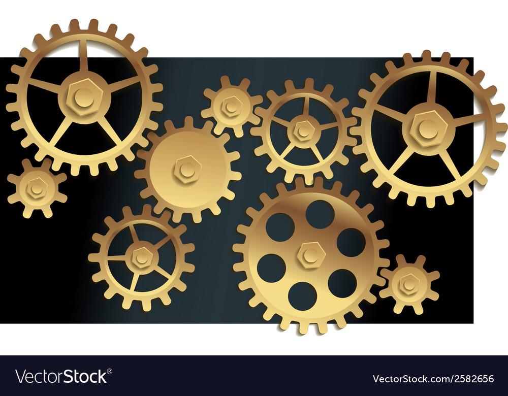 Machine gears vector | Price: 1 Credit (USD $1)