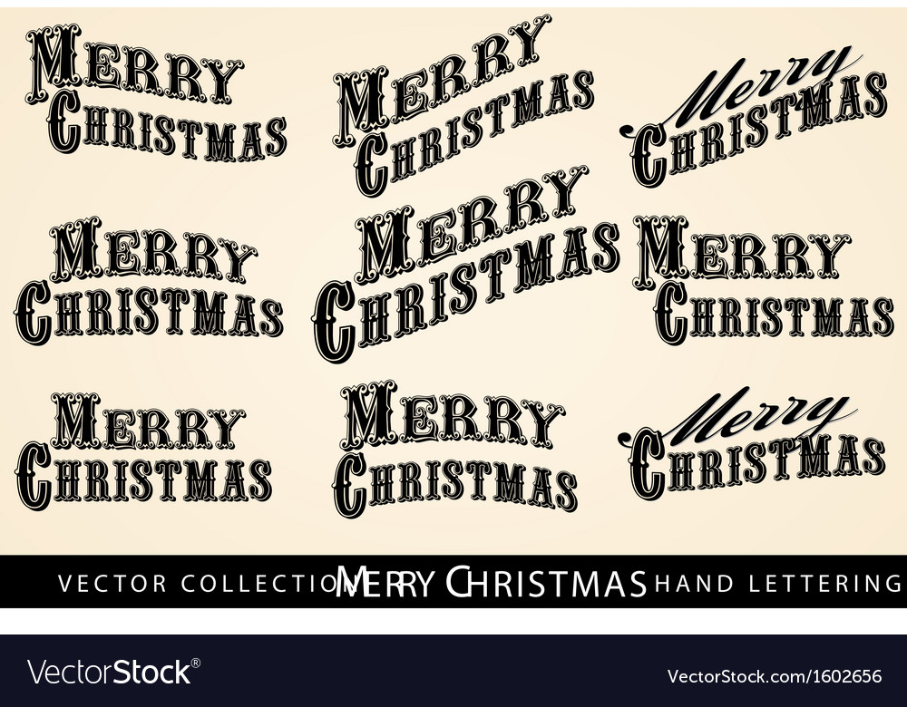 Merry christmas text vector   Price: 1 Credit (USD $1)